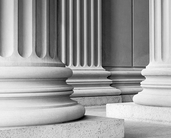 court room pillars